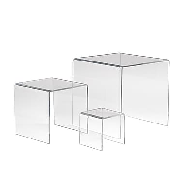 Econoco FF/DR4410 Medium Display Riser, Clear, Acrylic