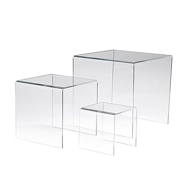 Econoco FF/DR4510 Display Riser, Clear, Acrylic