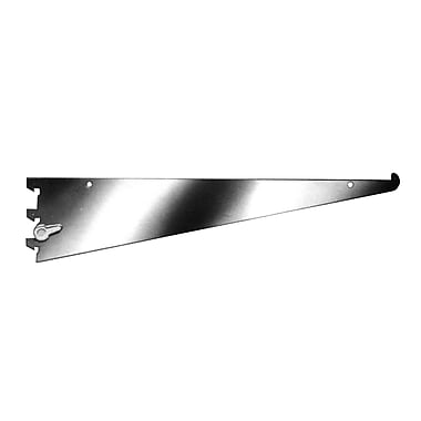 10 in.  Metal Shelf Bracket With Nylon Stabilizer, Chrome