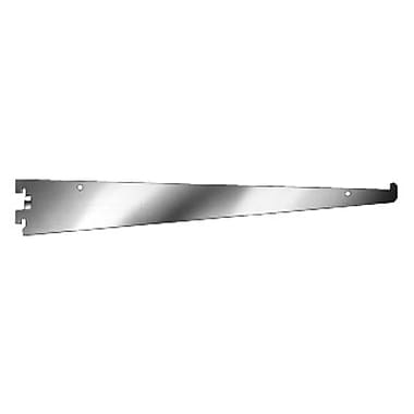 14 in.  Metal Heavy Duty Tap-In Style Shelf Bracket For Universal Line Slotted Standards, Chrome