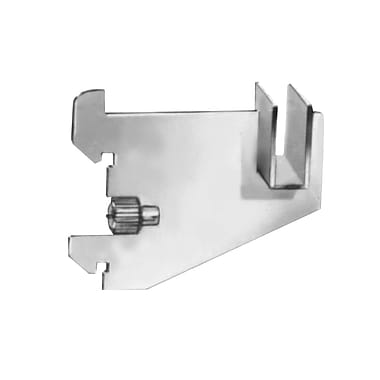 3 in.  Blade Brackets For 1 / 2 in.  x 1 1 / 2 in.  Rectangular Tubing, Satin Chrome