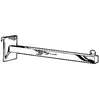 Econoco GW/11 12in. Square Tubing Faceout, Chrome, Straight Arm