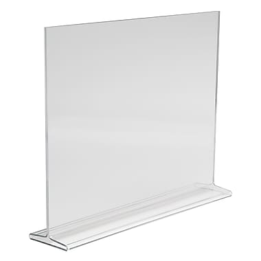 11 in. H x 14 in. W Acrylic Double-Sided Top Load Countertop Sign Holder, Clear
