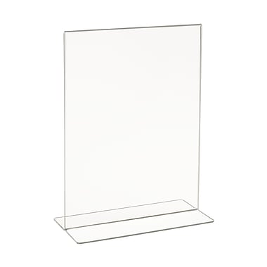 11 in. H x 8 1 / 2 in. W Acrylic Double-Sided Bottom Load Countertop Sign Holder, Clear