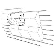 "Econoco HP/DB69 9"" x 6"" Modular Dump Bin, Acrylic, Clear"