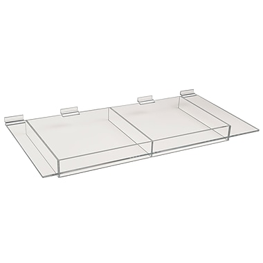 12 in.  x 24 in.  Acrylic Extra Support Shelf, Clear