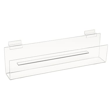 12 in.  x 2 in.  Acrylic Greeting Card Shelves, Clear