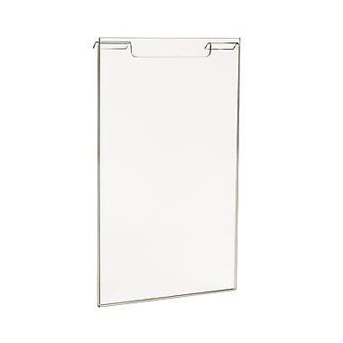 11 in.  x 7 in.  Acrylic Vertical Sign Holder, Clear