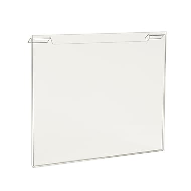 8 1 / 2 in.  x 11 in.  Acrylic Horizontal Sign Holder, Clear