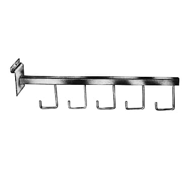Econoco HW/5H 16in. 5-Hook Square Tubing Straight Arm Faceout, Chrome, Metal