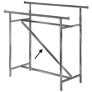 Econoco I705 Optional Z-Brace, Double Hangrail Box Rack, Chrome
