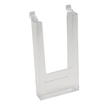 9 in.  x 4 in.  Injection Molded Styrene Literature Holder, Clear
