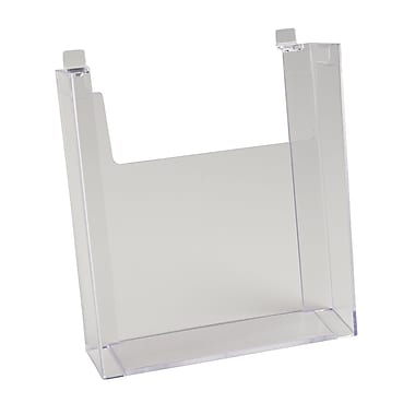 11 in.  x 8 1 / 2 in.  Injection Molded Styrene Literature Holder, Clear