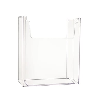 Econoco IM/WM811 Acrylic Injection Molded Literature Holder, 11in. x 8 1/2in., Clear