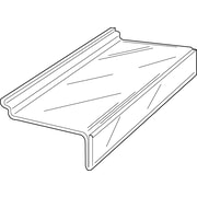 "Econoco JM4SL/ST 4"" x 10"" Injection Molded Shoe Shelf, Clear, Acrylic"