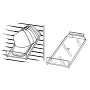 Econoco JMCP/ST Slanted Cap Shelf with Front Lip, Injection Molded Styrene, Clear