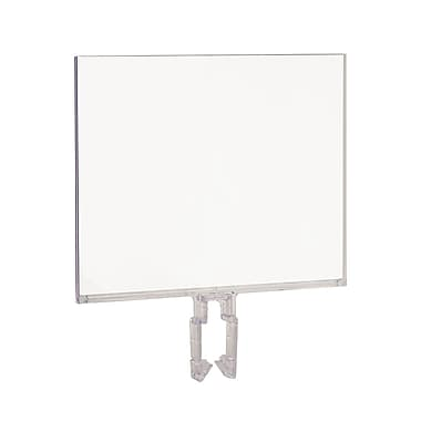 5 1 / 2 in. H x 7 in. W Polycarbonate Sign Holder, Clear