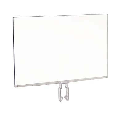 7 in. Hx 11 in. W Polycarbonate Sign Holder, Clear