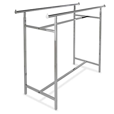 60 in.  x 22 in.  Adjustable Double Bar Rack, Chrome