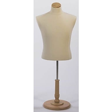 Econoco M5WB Male Shirt Form Tailor Bust, Polyurethane, Creme