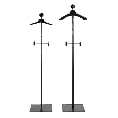 72 in.  Men's Floor Standing Costumer With Hanger, Black
