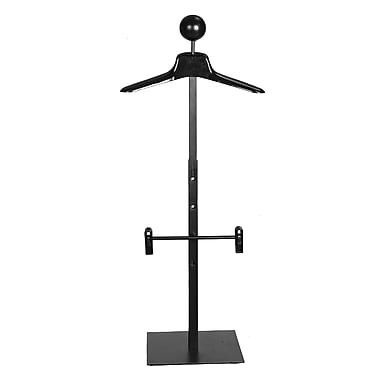 46 in.  Men's CounterTop Costumer With Hanger, Black
