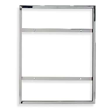 28 in.  x 22 in.  Mitered Corner Vertical Sign Holder, Chrome