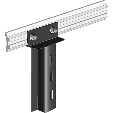 93 in. H Basic Upright-Groove Wall Channel, Satin Chrome