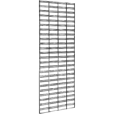 Econoco P3STG26C Slatgrid Panel, Chrome, 6' x 2'