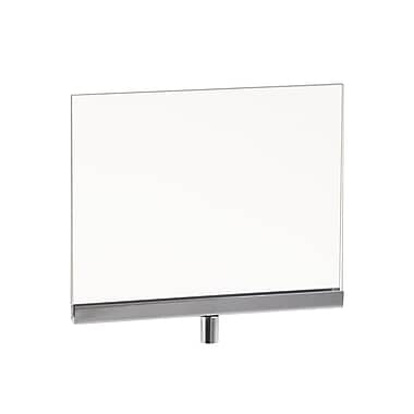 5 1 / 2 in. H x 7 in. W Acrylic Sign Holder With 3 / 8 in.  Fitting, Clear