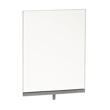 Econoco PJ811V 11in. x 8 1/2in. Sign Holder with 3/8in. Fitting, Clear, Acrylic