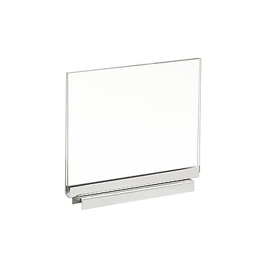 5 1 / 2 in. H x 7 in. W Acrylic Sign Holder With Magnetic Base, Clear