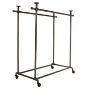 """Econoco PSBB2TS Pipeline Double Ballet Bar with Top, 48"""" x 24"""" x 52"""", Anthracite Gray"""