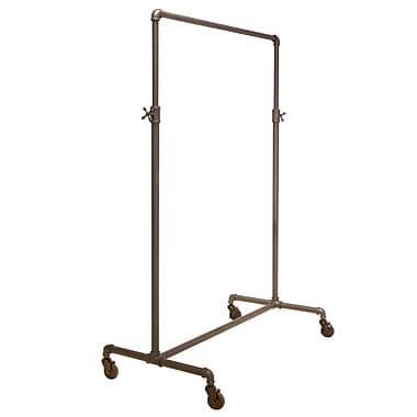 Econoco PSBBADJ 2-Way Pipeline Traditional Adjustable Ballet Rack, 44in. - 72in. x 41in. x 22in., Anthracite Gray