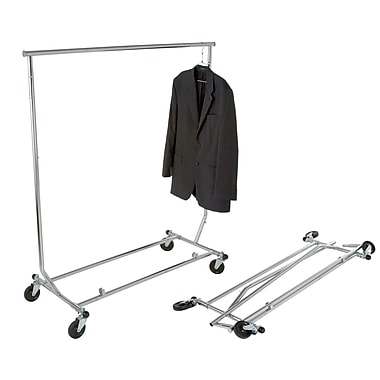 Econoco RCS/2 Round Tubing Heavy-Duty Collapsible Garment Rack, 48