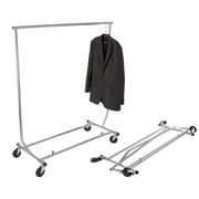 "Econoco RCS/2 Round Tubing Heavy-Duty Collapsible Garment Rack, 48"", Chrome"