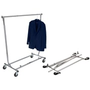 "Econoco RCW/4 Square Tubing Collapsible Garment Rack, 48"", Chrome"