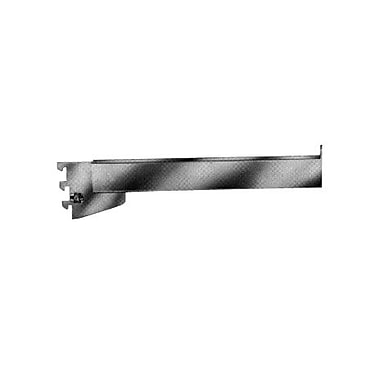 12 in.  Rectangular Tubing Straight Arm Face out Chrome