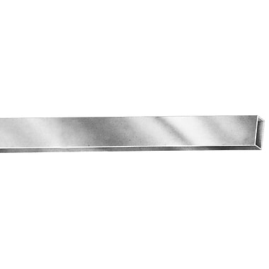 6' x 1 / 2 in.  x 1 1 / 2 in.  Rectangular Tubing Faceout, Chrome