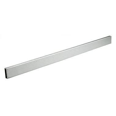2 in.  Rectangular Tubing Display Hangrail Bracket, Satin Chrome