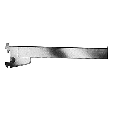 12 in.  Rectangular Tubing Straight Arm Faceout, Satin Chrome
