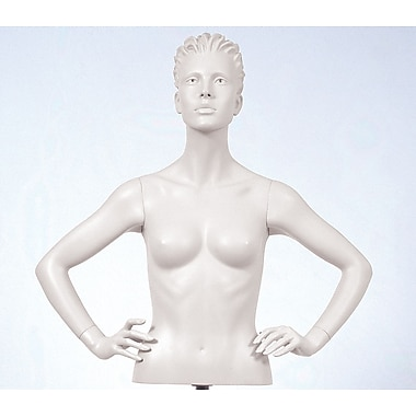 Econoco SYF-B109 Female Arms Mannequin, Hands on Hips, White