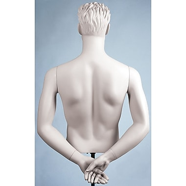 Econoco SYM-C109 Male Arms Mannequin, Hands Behind Back, White