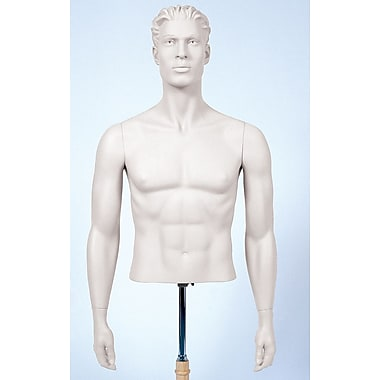 Econoco SYMA109 Male Arms Mannequin, Arms by Side, White