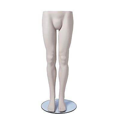 Econoco SYML109 Male Legs Mannequin, White, Glass Base