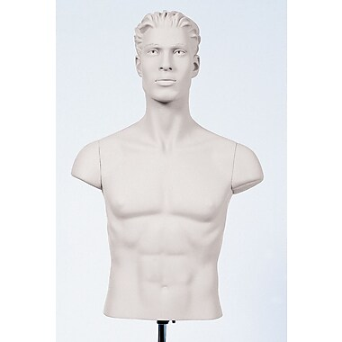 Econoco SYMS-109 Shoulder Caps Mannequin, White, Fiberglass