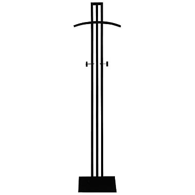 72 in.  Floor Standing Costumer With Shoulder Bar, Black