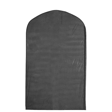 Econoco US540B/B 40in. x 24in. Zippered Garment Cover with Full Length Side Zipper, Black, Polyethylene