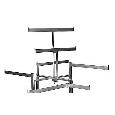 27 in.   in. T in.  Style Double Bar Rack Topper, Chrome