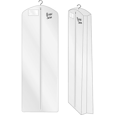 Econoco WGS72 3 ga Vinyl Bridal Cover, White, 72in. x 24in.